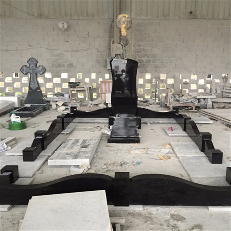Absolute black granite monuments