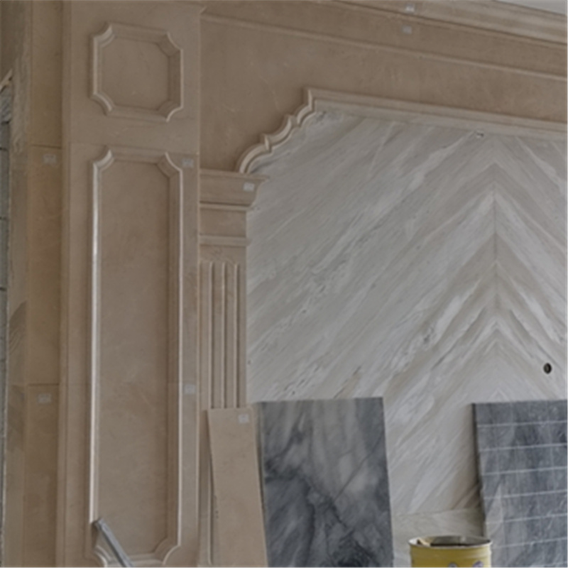 Marble tv wall panel