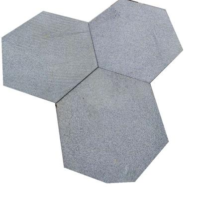 Hexagon outdoor pavement
